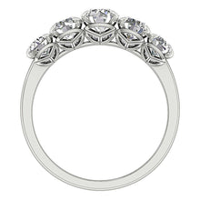 Load image into Gallery viewer, Front View Diamond White Gold Ring-DFR55