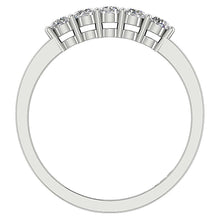 Load image into Gallery viewer, Designer Five Stone Wedding Ring VVS1 E 0.50 ct Natural Diamond 14k White Gold