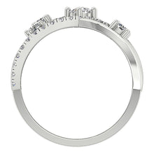 Load image into Gallery viewer, Natural Diamond White Gold Ring Front View-DRHR5-4