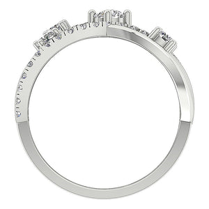 Natural Diamond White Gold Ring Front View-DRHR5-4