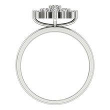 Load image into Gallery viewer, Genuine Diamond White Gold Ring Front View-DRHR6-4