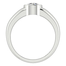 Load image into Gallery viewer, White Gold Ring Round Diamond Front View-DSR154-SR-656-2