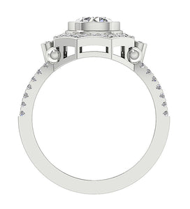 Front View Solitaire Diamond Gold Ring Gift-DSR647-4