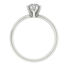 Load image into Gallery viewer, Solitaire Round Diamond Designer Anniversary Ring I1 G 0.70 Ct 14K White Gold Six Prong Set 5.70MM