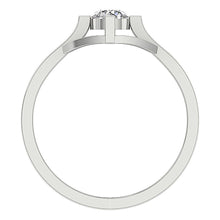 Load image into Gallery viewer, Genuine Diamond Solitaire Gold Ring Front View-DSR94-SR-752-5