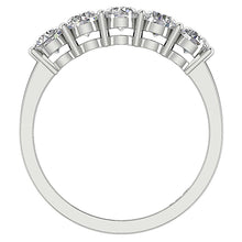 Load image into Gallery viewer, Diamond White Gold Ring Front View-FR-67