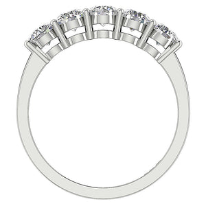 Diamond White Gold Ring Front View-FR-67
