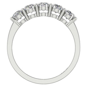 Front View Diamond White Gold Ring-FR-67