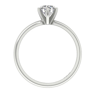 Natural Diamond 14K White Gold Ring Front View-SR-23-2