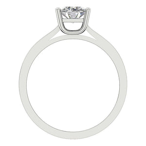 Diamond White Gold Ring Front View-SR-664-0.80-5