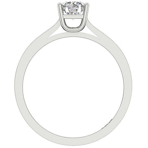 Solitaire Engagement Earthmined Diamond Ring Front View-SR-664-5