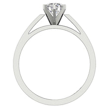 Load image into Gallery viewer, Six Prong Natural Diamond White Gold Ring Front View-SR 766-0.80-4