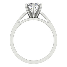 Load image into Gallery viewer, Front View Round Cut Diamond White Gold Ring-SR 766-1.80-5
