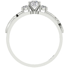 Load image into Gallery viewer, Front View Genuine Diamond White Gold Ring-TR-125-5