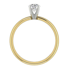 Load image into Gallery viewer, Genuine Diamond 14K Gold Ring Front View-SR-180-2