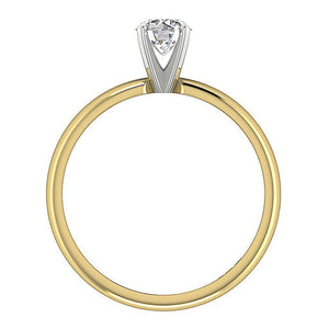 Genuine Diamond 14K Gold Ring Front View-SR-180-2