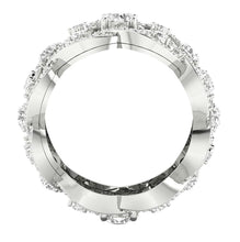 Load image into Gallery viewer, Width 13.00 MM Front View 14k White Gold-DETR210