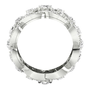 Width 13.00 MM Front View 14k White Gold-DETR210