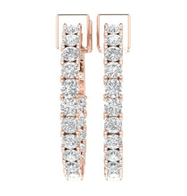 Load image into Gallery viewer, Round Diamond Earring Set 14k Rose Gold