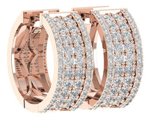 Load image into Gallery viewer, 14k Rose Gold Natural Diamond Earring Set
