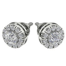 Load image into Gallery viewer, Prong Set Round Diamond Earring Set