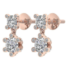 Load image into Gallery viewer, 14k Rose Gold Round Diamond Earring