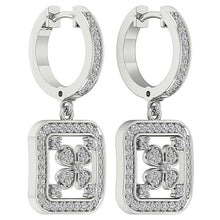 Load image into Gallery viewer, 14k White Gold Designer Dangle Earring Set