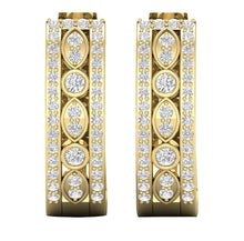 Load image into Gallery viewer, 14k Gold Genuine Diamond Wedding Earring Set