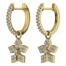 Load image into Gallery viewer, 14k Yellow Gold Round Diamond Earring Set