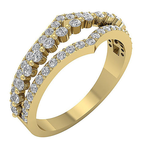 Low Cost Split Shank Designer Natural Diamond Ring