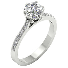 Load image into Gallery viewer, Solitaire Engagement Ring 14k Two Tone Gold I1 G 1.35 ct Natural Diamond