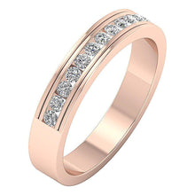 Load image into Gallery viewer, Channel Set Anniversary Band 0.50 ct I1 G Natural Round Ideal Cut Diamond 14k Gold