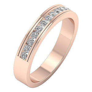 0.50 Carat Diamond Wedding Band 14k Rose Gold