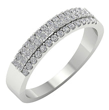 Load image into Gallery viewer, 14KWeddingWhiteGoldRing-WR-545