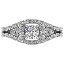 Load image into Gallery viewer, Designer Split Shank Engagement Solitaire Ring I1 G 1.25 Ct Natural Diamond