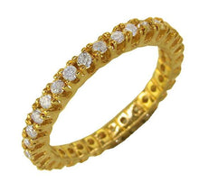 Load image into Gallery viewer, 14k White Gold Stackable Anniversary Eternity Ring SI1 G 0.55 ct Natural Diamond Prong Set 2.00MM