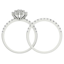 Load image into Gallery viewer, Round Diamond Bridal Ring Set Front View