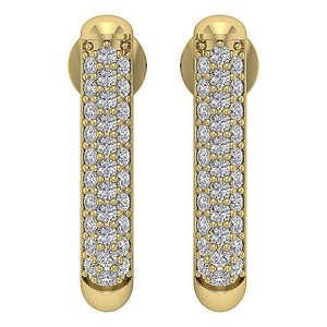 Genuine Diamond Earring Set 14k Yellow Gold