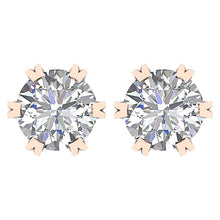 Load image into Gallery viewer, Genuine Diamond Earring Set Front View
