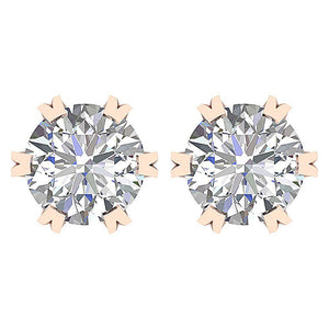 Genuine Diamond Earring Set Front View