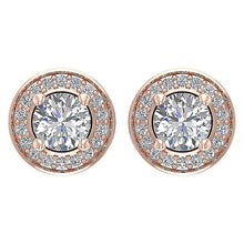 Load image into Gallery viewer, Unique Earring Set 14k Rose Gold Front View