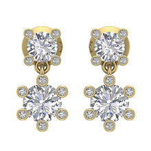 Load image into Gallery viewer, Designer Earring Set 14k Yellow Gold Front View