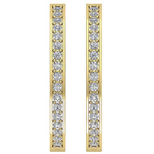 Load image into Gallery viewer, Designer Earring Set 14k Solid Gold Front View