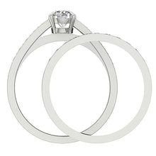 Load image into Gallery viewer, Natural Diamond Bridal Ring Set Front View