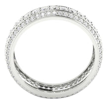 Load image into Gallery viewer, 14k White Gold Round Diamond Eternity Ring