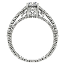 Load image into Gallery viewer, Front View 14K White Gold Solitaire Round Diamond Ring-DSR481