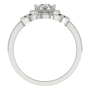 Front View Round Cut Diamond Solitaire Anniversary Ring-SR-1151-4