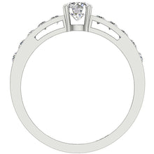 Load image into Gallery viewer, Accent Solitaire Anniversary Round Cut Diamond Ring I1 G 1.01 Ct 14k Solid Gold