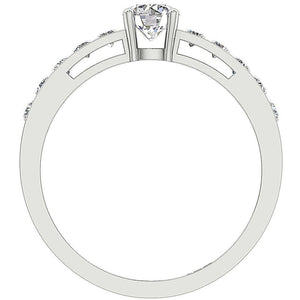 Front View Solitaire Diamond Ring 14K-DSR62