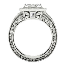 Load image into Gallery viewer, Front View Solitaire Halo Designer Engagement Natural Ring-SR-1089